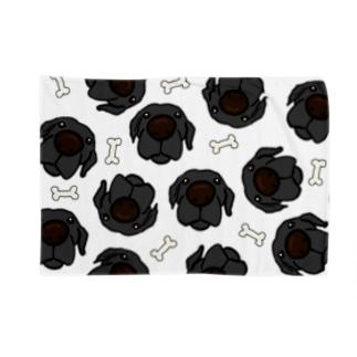 黒ラブたくさん Blankets