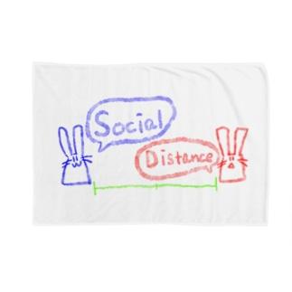 ソーシャルディスタンスウサギ Blankets