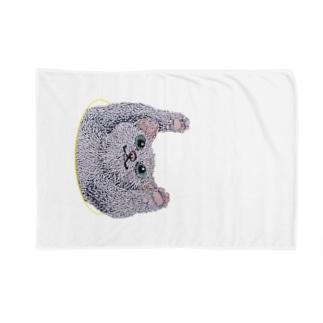 ひょこっと顔出す猫 Blankets
