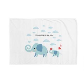 象の親子【あかえほ公式】 Blankets