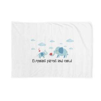 あかえほ│赤ちゃん絵本のWeb図書館 公式グッズ販売の象の親子【あかえほ公式】 Blankets