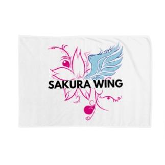 SAKURA WINGnewロゴ Blankets