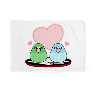 まめ大福マメルリハ【まめるりはことり】 Blankets