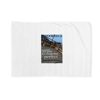 神戸英雄斗のウッドデッキプリ Blankets