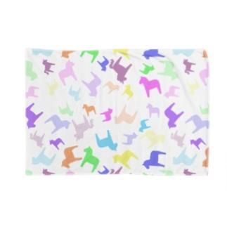 【ダーラナホース】ランダム柄レインボー Blankets
