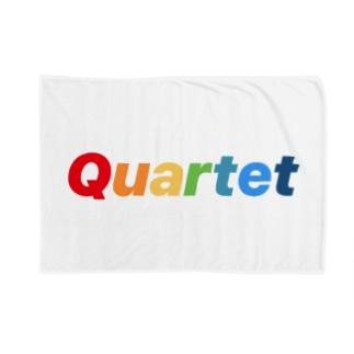Quartet be ture Logo Blankets