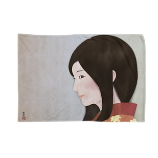 美人画「花の一片」 Blankets