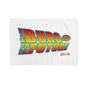 ハンバーグイラスト「ハンバーグ・トゥ・ザ・フューチャー」 Blankets