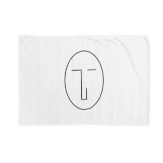 NATSUKO-SHOPのthe face (顔) Blankets