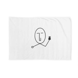 NATSUKO-SHOPのthe face ピース (顔) Blankets