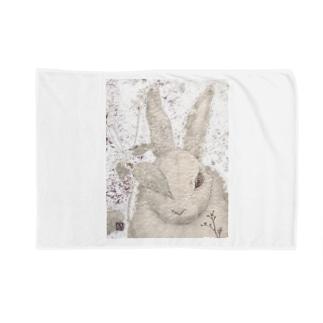 カリヲ屋スズリ支店のアニムス シロウサギ  Blankets