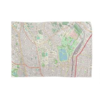 東大 & 上野公園地図 Blankets