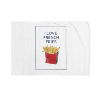 I LOVE FRENCH FRIES Blankets