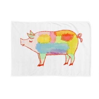 ぶた好き Blankets