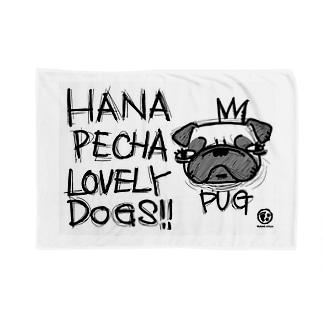 鼻ぺちゃ犬の代表格、最愛なるパグ Blankets