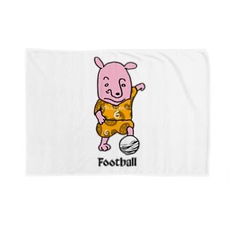 ピンクの犬〜football Blankets