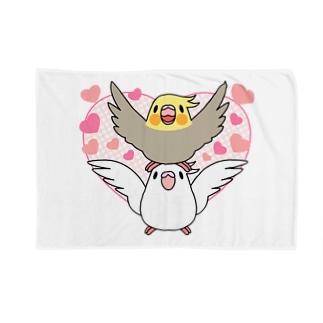 ラブリーオカメインコ【まめるりはことり】 Blankets