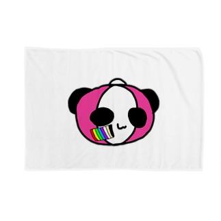 レインボーペイントぱんこちゃん Blankets