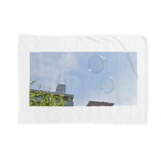 シャボン玉と水色の空 Blankets
