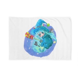魔法少女ゆるmiku with 使い魔にゃんズ Blankets