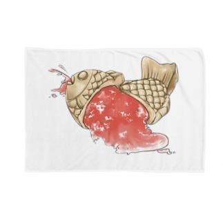 かき氷たいやきくん(苺) Blankets