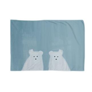 かがみのなかのポーラーベア Blankets