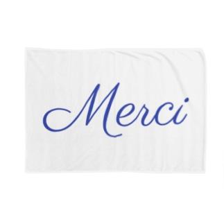 Merci フランス語ありがとう Blankets