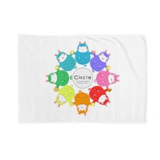 toshimaruのカバロバ circle Blankets