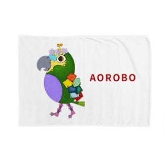 ねこぜや のROBOBO アオボウシインコ Blankets