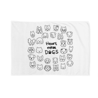 Heart nose DOGS(丸型) Blankets