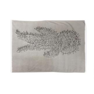 綿棒刺突図 Blankets