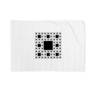 Fractal Sierpinski Carpet Blankets