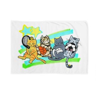 ネコリンピック✨球技 Blankets