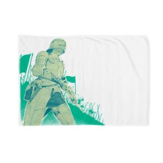 いざ参らん 緑ver Blankets