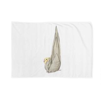 尾羽がピン 可愛いオカメインコちゃん【まめるりはことり】 Blankets