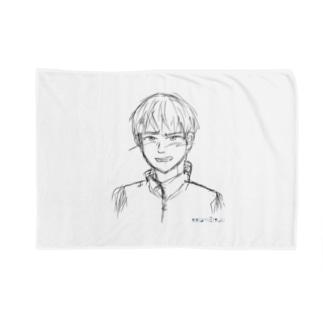 照れる少年 ラフ Blankets