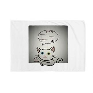 ゆる猫オッド シルバー Blankets
