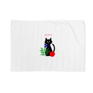 猫の日暮らしのラッキーくん Blankets