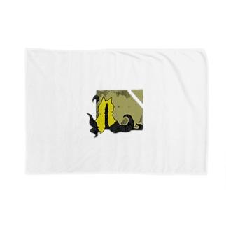 冒涜的な猫ハス(色付き) Blankets
