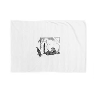 冒涜的な猫ハス(色なし) Blankets