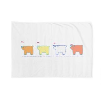 クマ、クマ、クマ、クマ。 Blankets