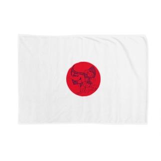 無名くん(赤) Blankets