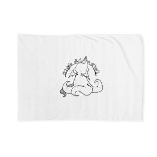 ちょぼろうSHOPの冒涜的な猫ルフ(背中色なし) Blankets