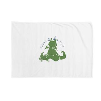 冒涜的な猫ルフ(背中白線) Blankets