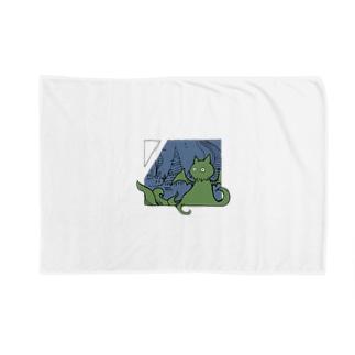 冒涜的な猫ルフ(色付き) Blankets