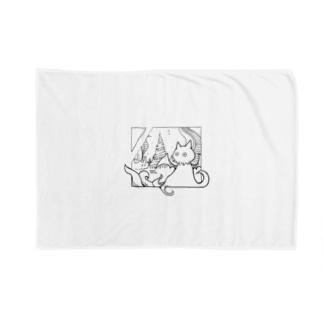 冒涜的な猫ルフ(色なし) Blankets