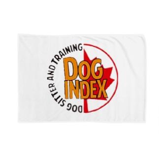 Dog indexサークル Blankets