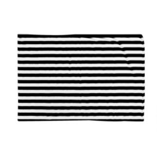 シンプルボーダー 黒 Blankets