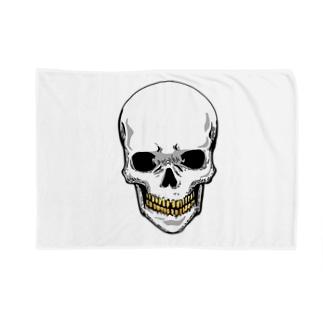 スカル【金歯】 Blankets