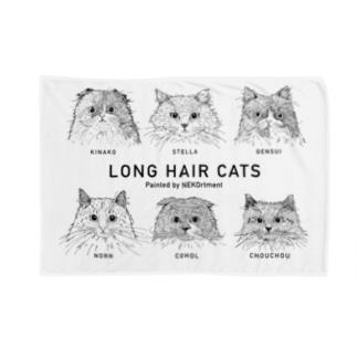 LONG HAIR CATS Blankets